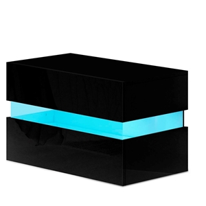 Artiss Bedside Table 2 Drawers RGB LED S