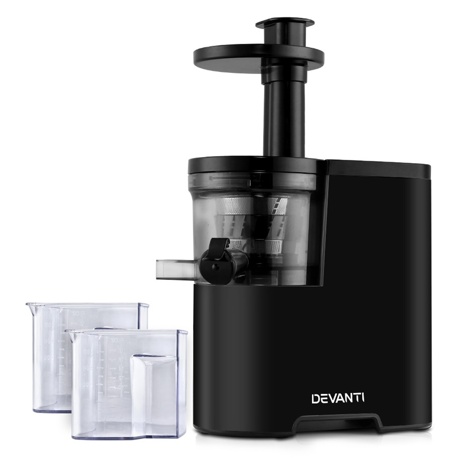 Devanti Cold Press Slow Juicer - Black