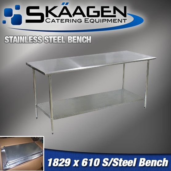 Unused 1829mm x 610mm Stainless Steel Bench