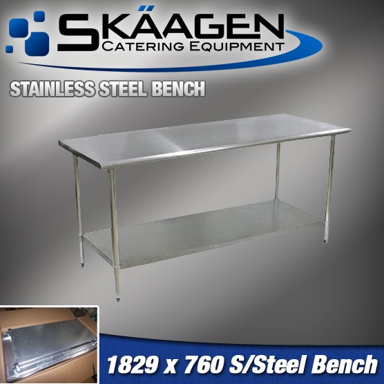 Unused 1829mm x 760mm Stainless Steel Bench