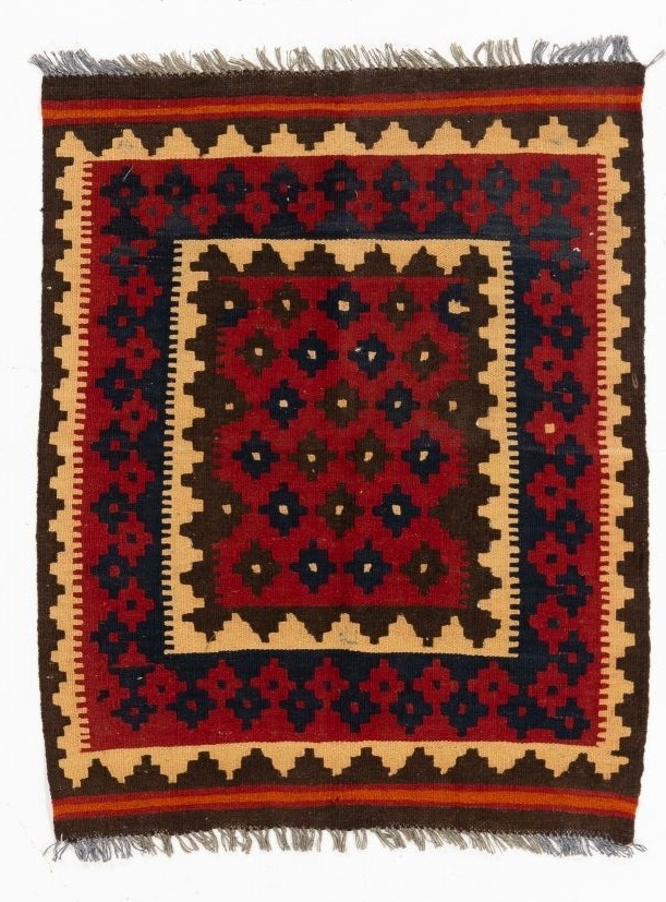 Flat Weave Kilim With 100 Wool Pile