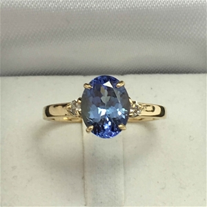 18ct Yellow Gold, 2.38ct Tanzanite and D