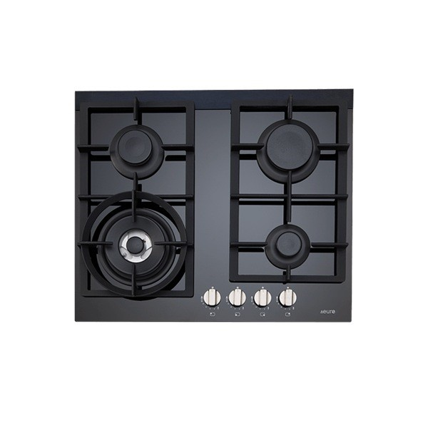 Euro 60cm Gas on Ceramic Cooktop, Model: ES60GFDBL