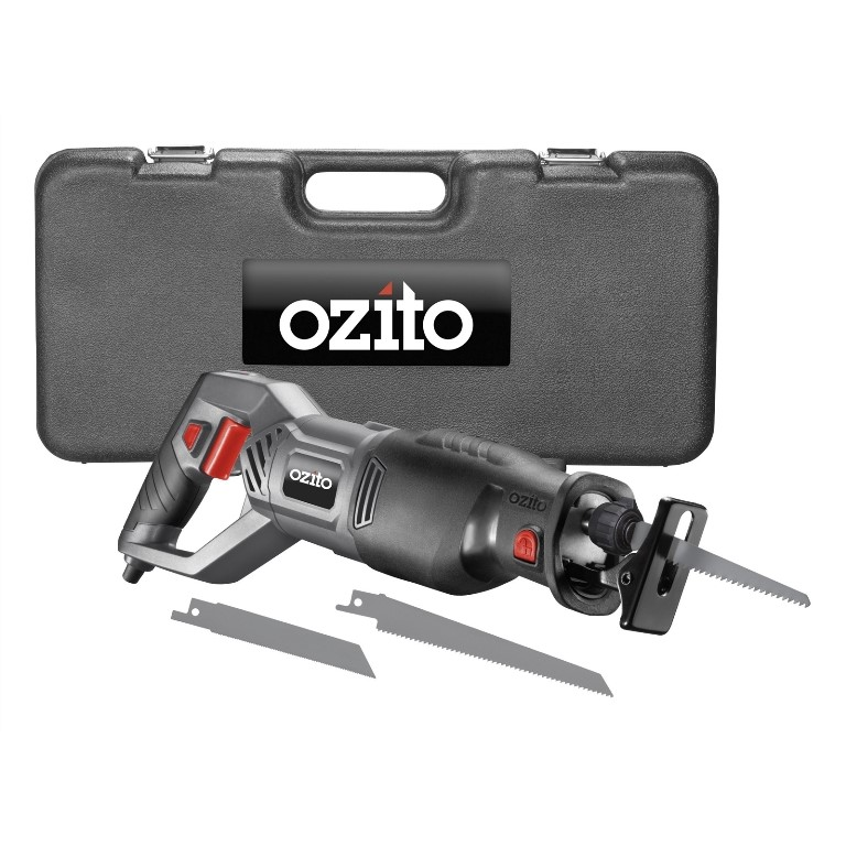 Ozito 920W Reciprocating Saw 920W, Stroke Length 24mm in Blow Mould Case. N