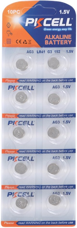 3 Packs of 10 x AG3 1.5V Alkaline Batteries. Buyers Note - Discount Freight