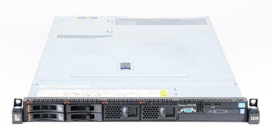 IBM X3550 M4 Rackmount Server 16-Cores 128GB RAM 1.2TB Storage