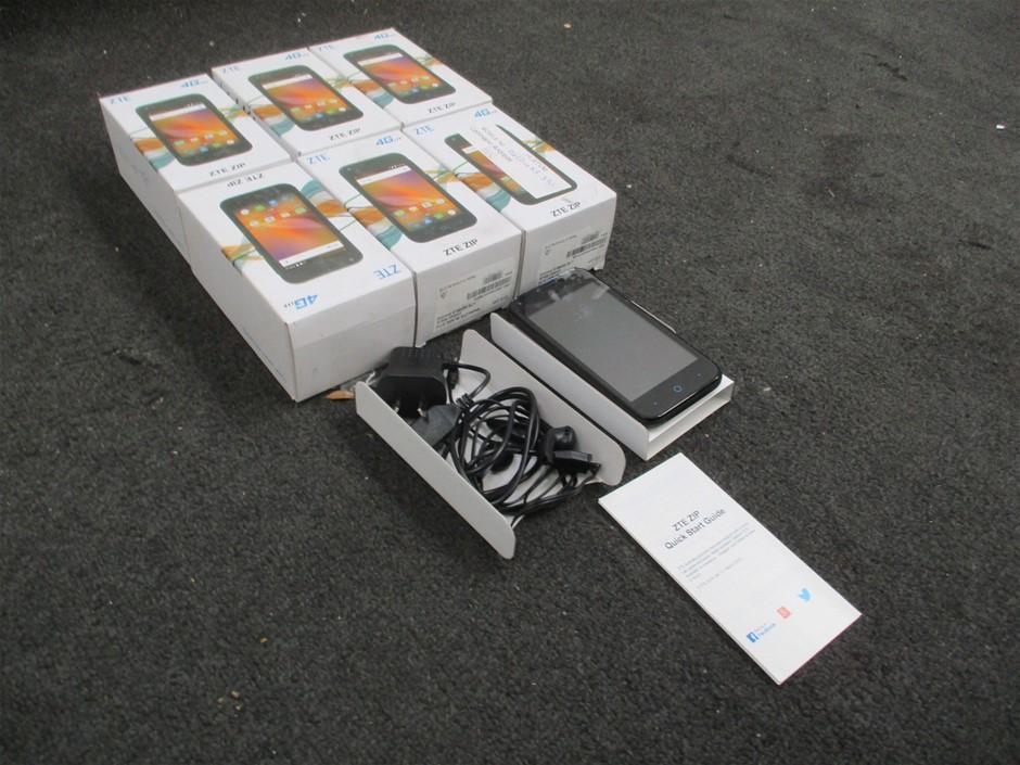 Qty 6 x ZTE 4G LTE Zip Mobile Phones