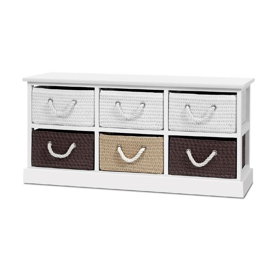 Artiss Storage Bench Shoe Organiser 6 Drawers Chest Cabinet Rack