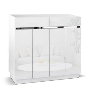 Artiss High Gloss Shoe Cabinet Storage R
