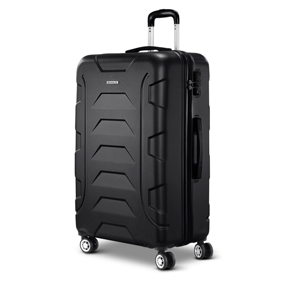 "Wanderlite 28"" Luggage Sets Suitcase Trolley Travel Hard Case Black"