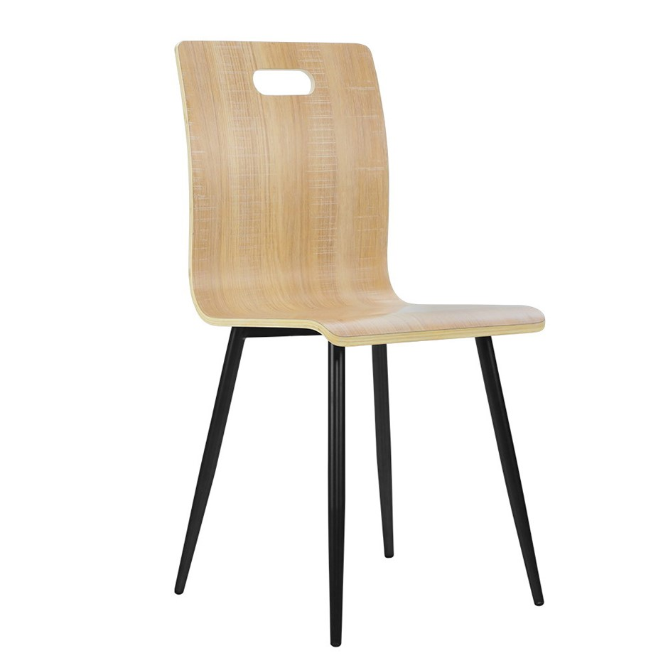 Artiss 4x Dining Chairs Bentwood Seater Metal Legs Chair Wooden