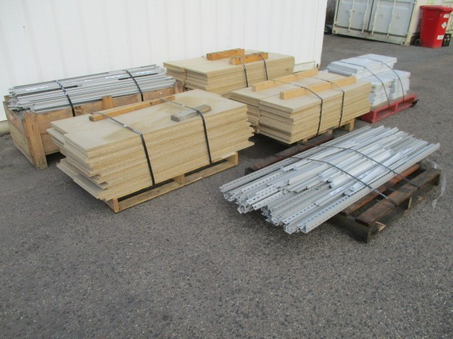 Qty 6 Pallets x Shelving Components