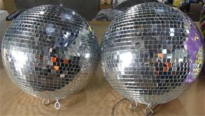 2 x Disco ball approx 35cm