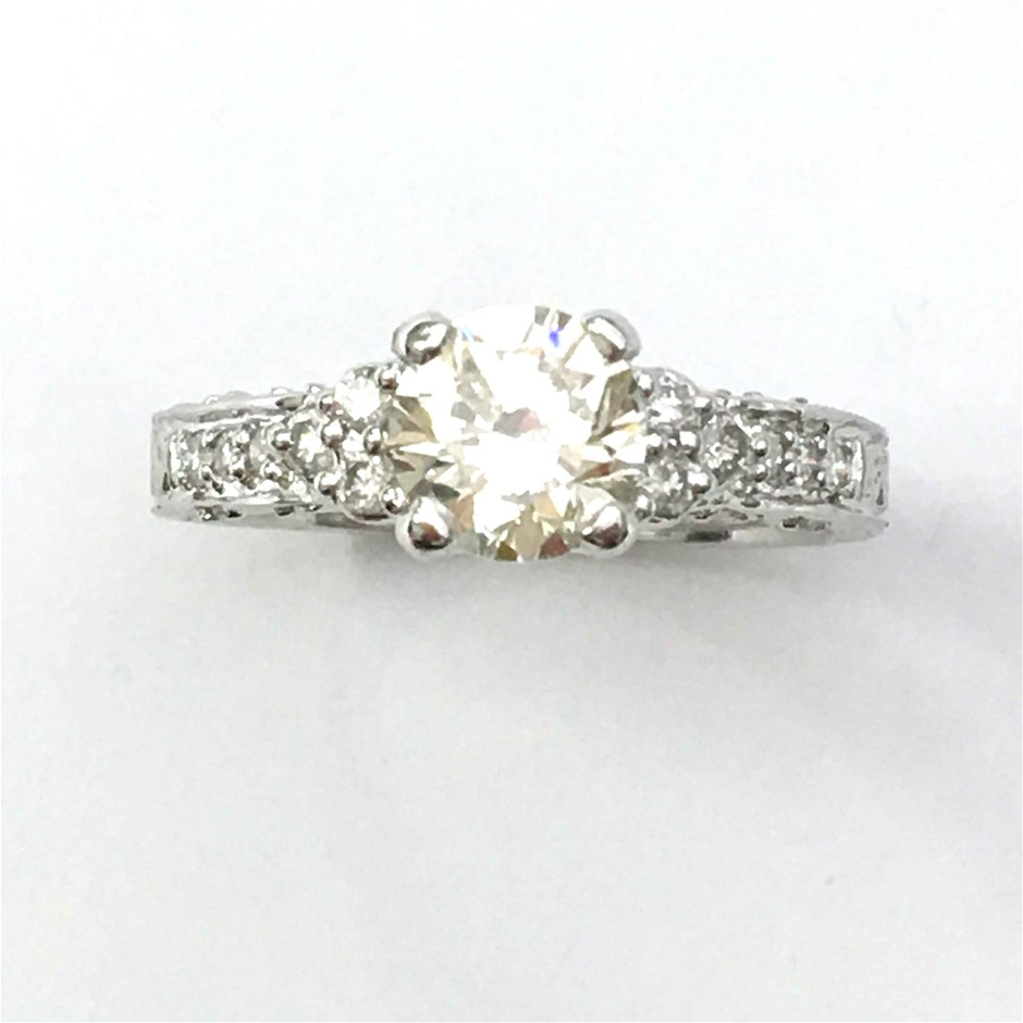 18ct White Gold, 1.20ct Diamond Engagement Ring