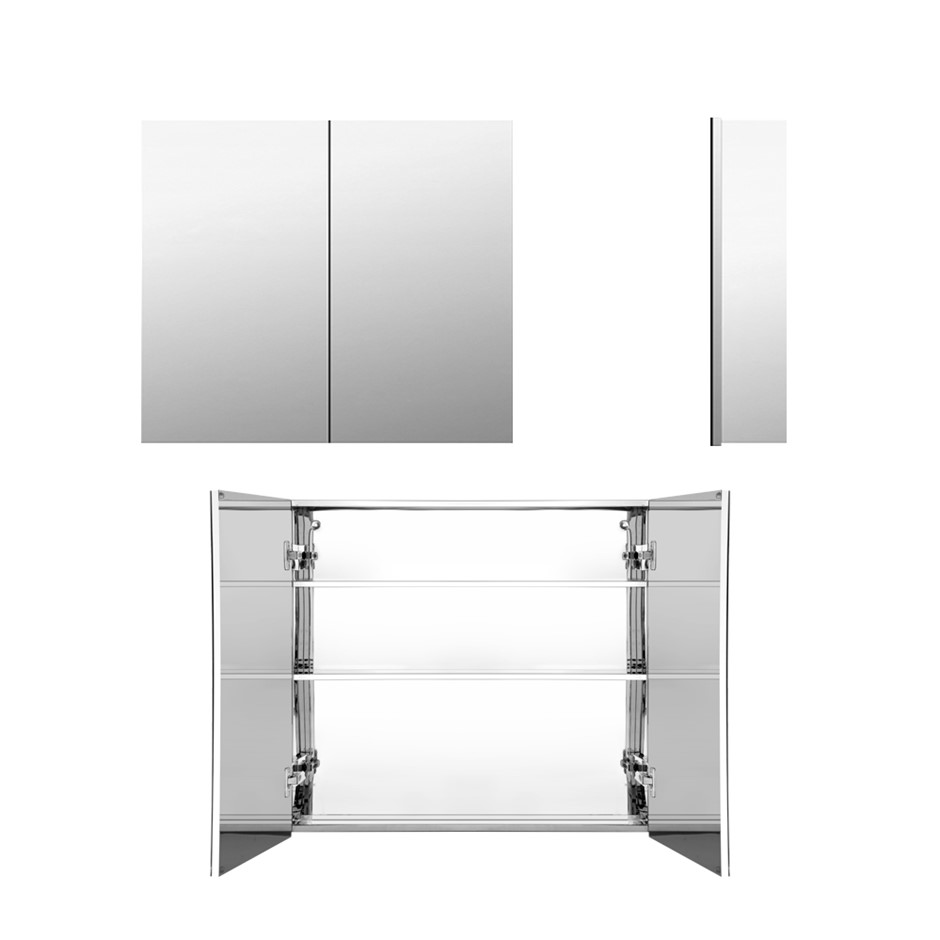 Cefito Stainless Steel Bathroom Mirror Cabinet Storage 600x720mm Silver