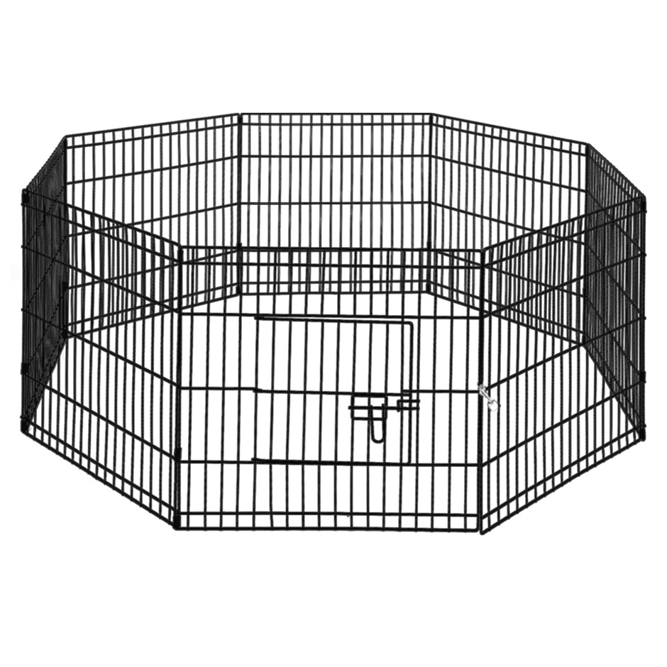 "i.Pet 24"" 8 Panel Pet Dog Playpen Puppy Exercise Cage Enclosure Fence 2pcs"