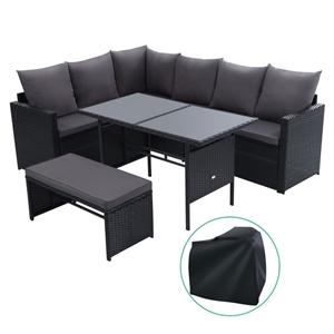 Gardeon Outdoor Furniture Dining Sofa Se