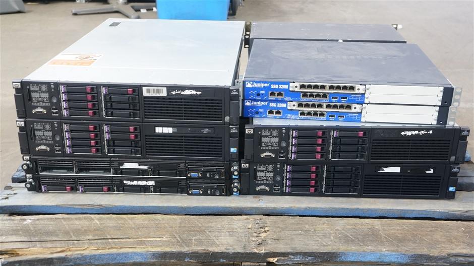 Pallet of Assorted HP Servers and Networking Hardware