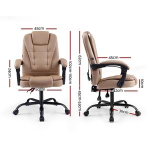 Artiss Massage Office Chair PU Leather R