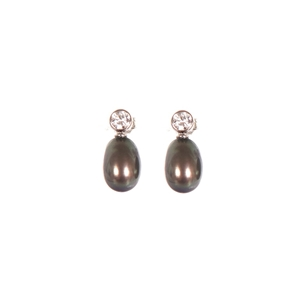 A Pair Of Sterling Silver 925 Dyed Black