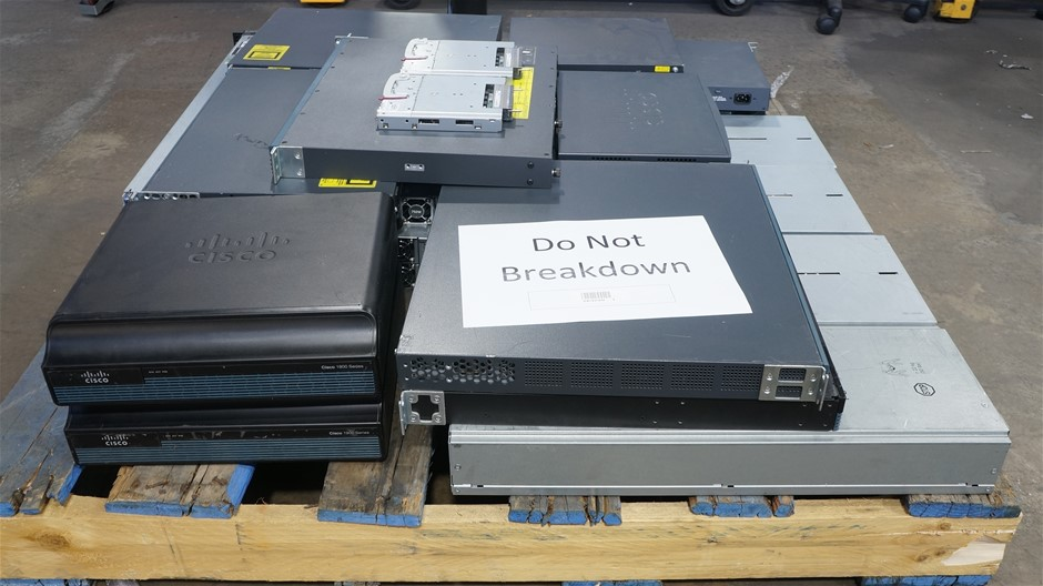 Pallet of Assorted Dell Servers and Networking Hardware