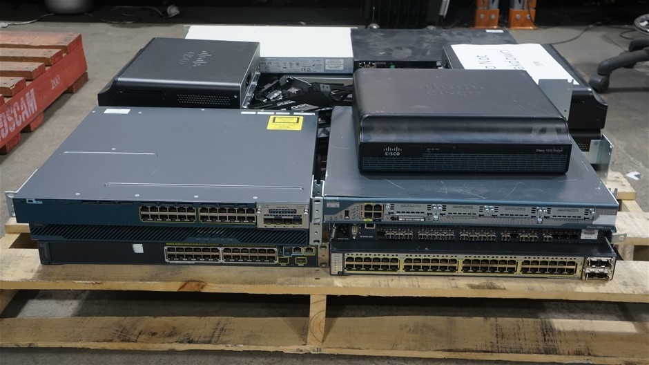 Pallet of Assorted Brand Networking Hardware