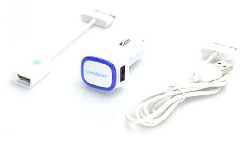 mbeat CAB-OTG30PINW Galaxy Tab & Note 3-in-1 OTG Kit White - 30 Pin type