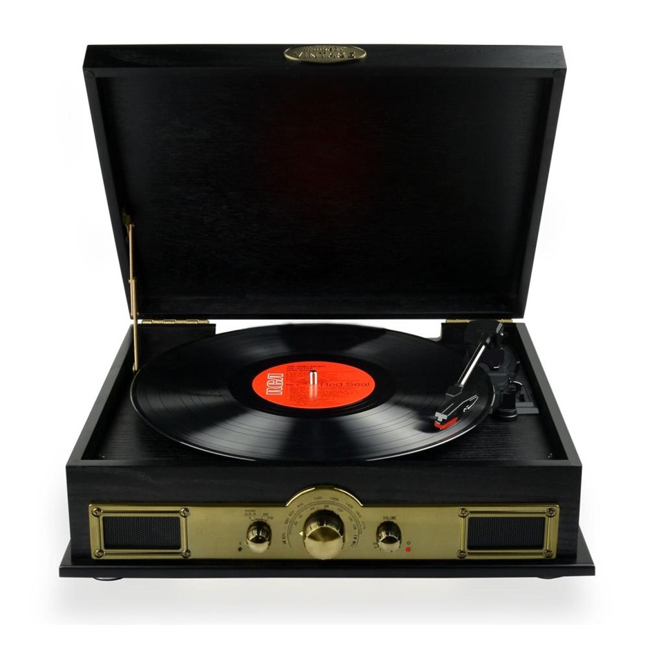 mbeat MB-USBTR98 Vintage wood turntable with Bluetooth SPK/AM/FM