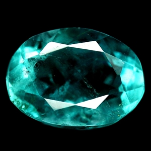 4.18ct. Oval Facet Natural Bluish Green