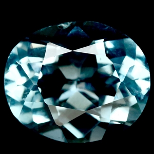 5.18ct. Oval Facet Natural Sky Blue Topa