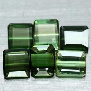 3.88ct. Octagonal Facet Natural Green To