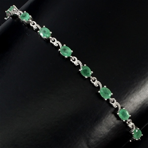 Gorgeous Genuine Green Emerald Bracelet