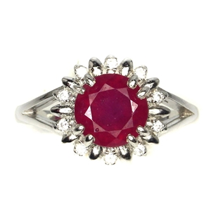 Delightful Genuine Ruby Solitaire Ring.