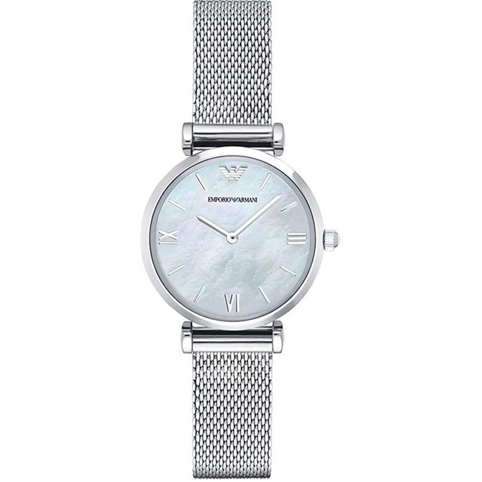 Striking new Emporio Armani Retro Mother of Pearl Ladies Watch.