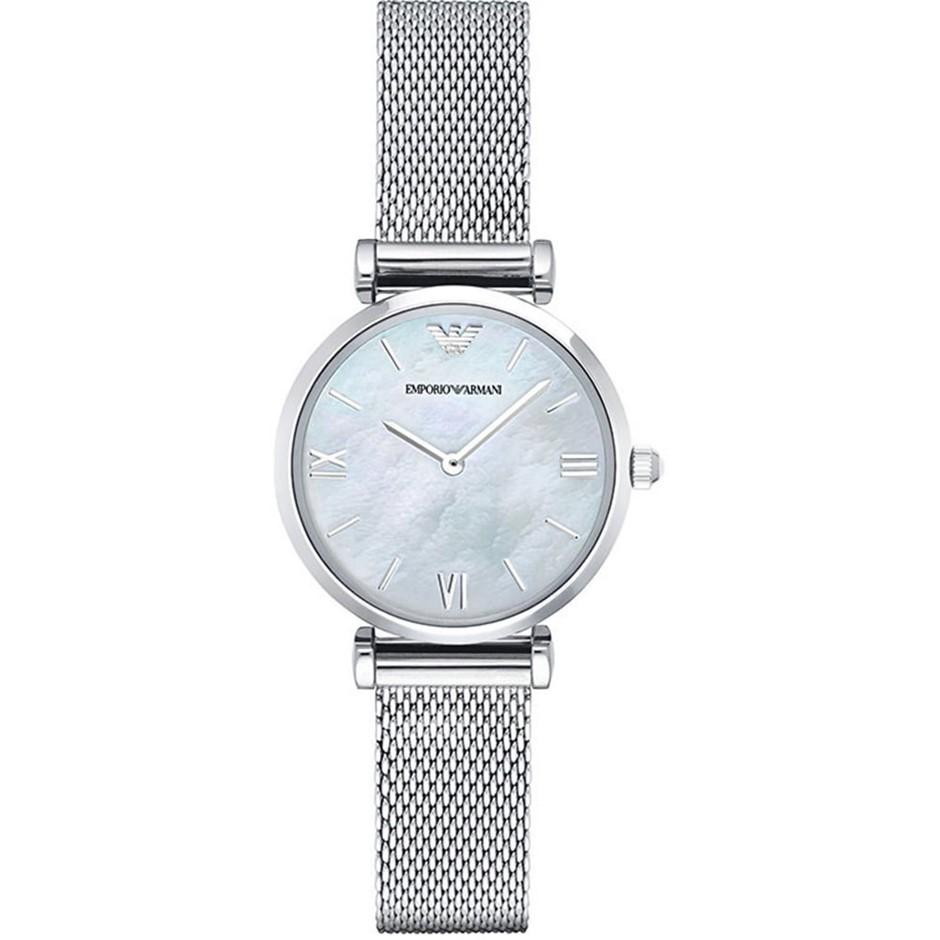 Striking new Emporio Armani Retro Mother of Pearl Ladies Watch.