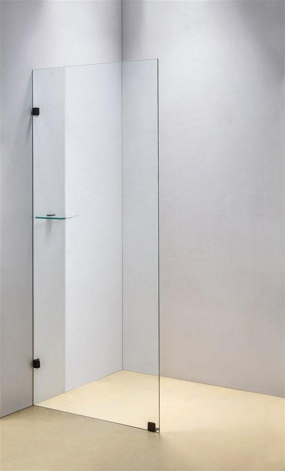 900 x 2000mm Frameless 10mm Safety Glass Shower Screen