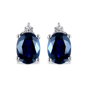 9ct White Gold, 3.20ct Blue Sapphire and