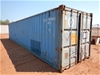 Container, 40 Foot, Standard with contents (B-Type)