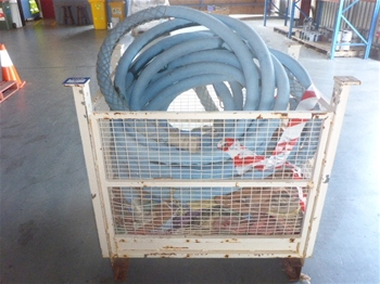 Stillage of Assorted Slings and Hoses