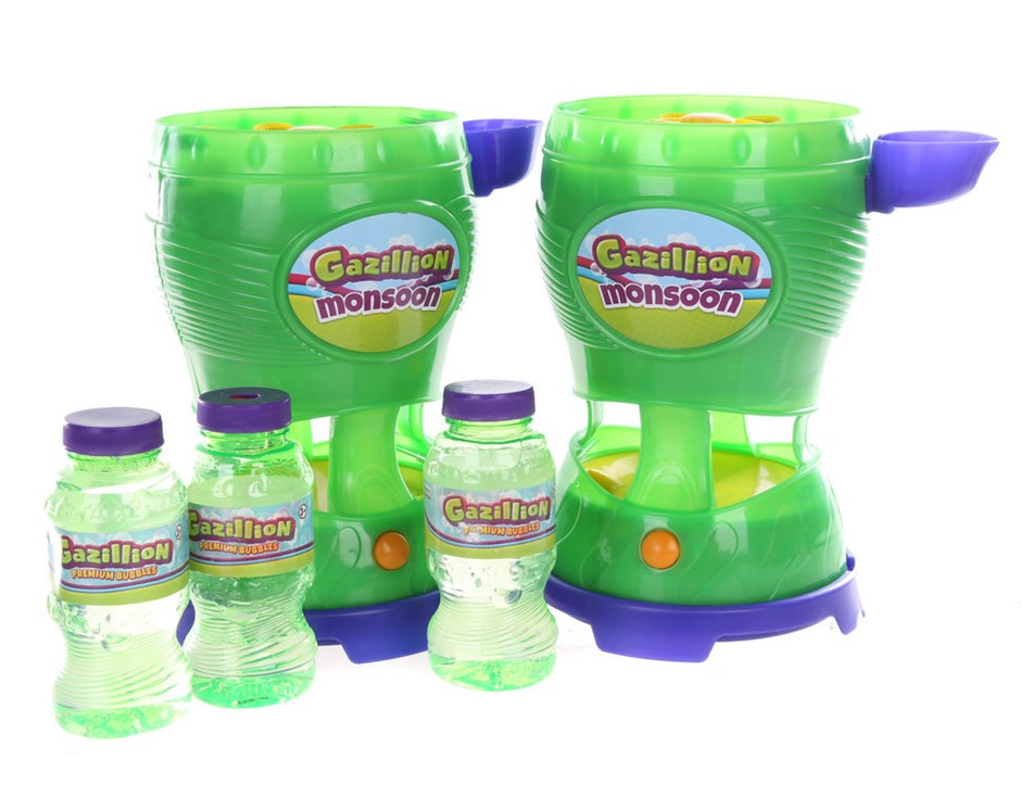 2 x GAZILLION Monsoon Bubble Machines with Bubbles. N.B. Have been used & s