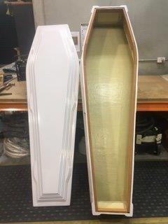 Burgundy Fibreglass Coffins