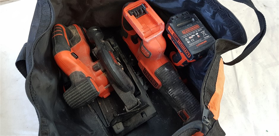 Bulk Lot Of Assorted Black + Decker Cordless Tools