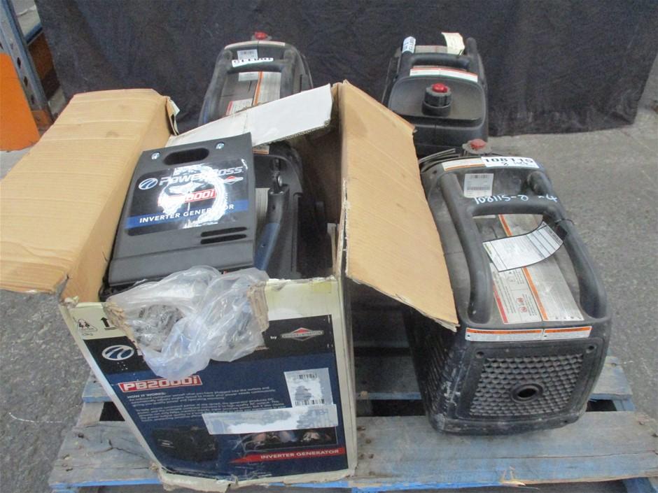 Qty 4 x Power Boss PB200i 1600W Inverter Generators