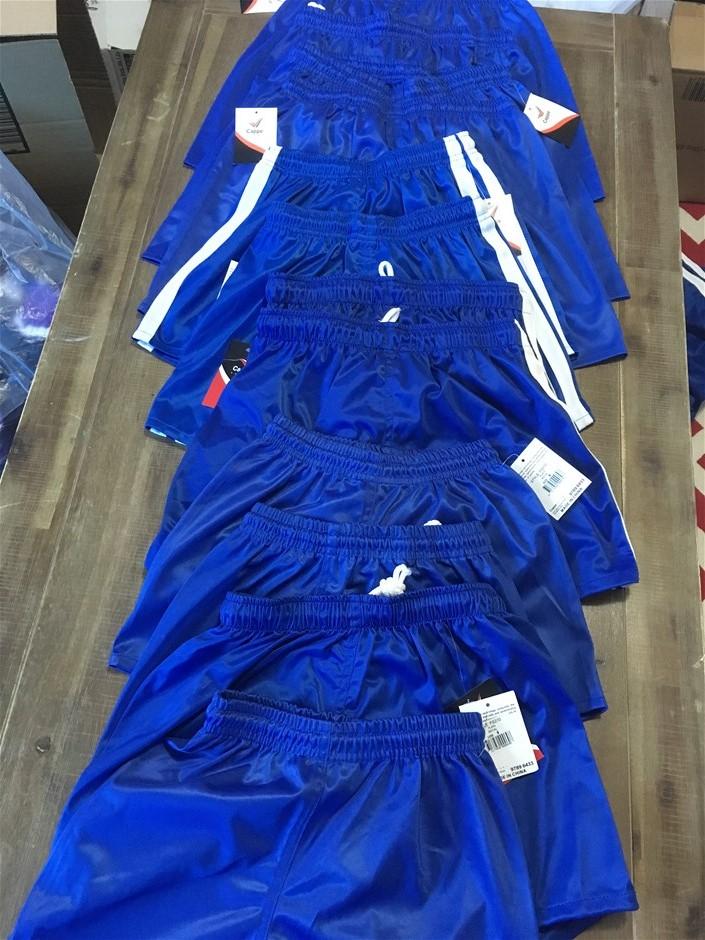12 x Cappe Sports Shorts, Royal Blue, Mixed Sizes