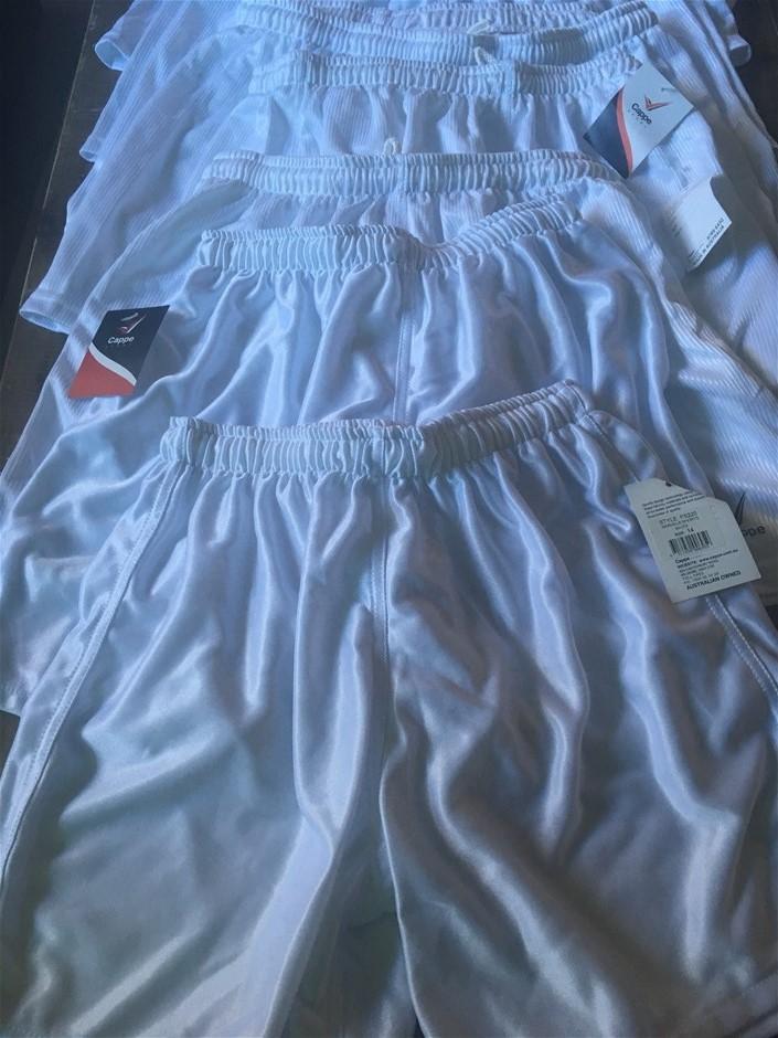10 x Cappe Sports Shorts, Marseile Shorts/White Mixed Sizes