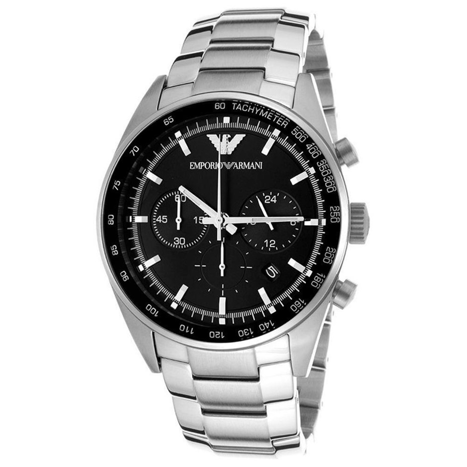 Traditional and stylish new Emporio Armani Classic Chronograph watch.