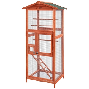 i.Pet Bird Cage Wooden Pet Cages Aviary