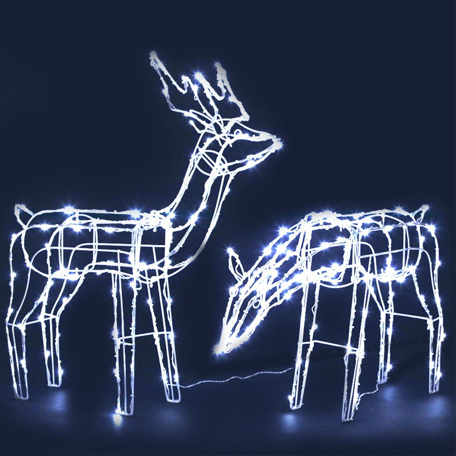 Jingle Jollys Christmas LED Motif Lights Rope Reindeer Waterproof Solar