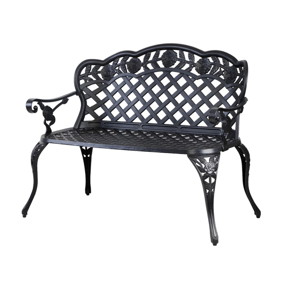 Gardeon Garden Bench Patio Park Lounge Cast Aluminium Outdoor Furniture