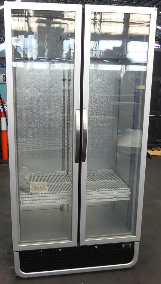 Husky HUS-C8PRO 728 litre 2 Glass Door Commercial Upright Refrigerator